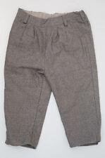 MARIE CHANTAL Baby Boy Brown Beige 100% Wool Elastic Waist Formal Trousers 24M