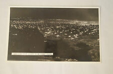 Adelaide - City Lights from Windy Point - Vintage - Postcard.