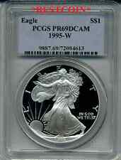 1995-W PROOF PR69 SILVER EAGLE PCGS PR-69 DCAM KEY DATE
