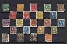 TMM* Canada Definitive Stamp Group KGV 1911-31 Scott #104-22 MH/OG 22 values
