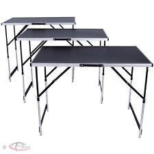 tectake 300 x 60 cm Tables à Tapisser Pliables Aluminium - Noir (401030)