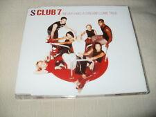 S CLUB 7 - NEVER HAD A DREAM COME TRUE - 2000 UK CD SINGLE