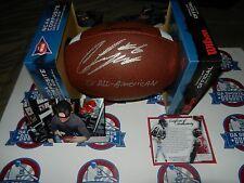 Jordan Lynch Signed Football Northern Illinois W/ 2X All-American W/Proof Bears