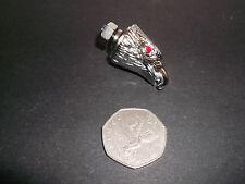 Pair Eaglehead American Eagle 6mm Nuts Chrome Red Eyes M6 Highway Hawk 03-105