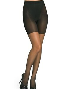 Spanx By Sara Blakely NEW Black Womens Size C Super Shaping Sheer Pantyhose #003