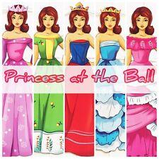 PRINCESS AT THE BALL 2 Paper dolls Hobby Kids Activity Fine Motor Skills Fun