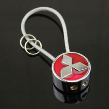 Mitsubishi RED Key Ring Key Chain Wire Steel Car Key Holder Gift