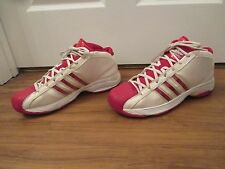 Used Worn Size 14 Adidas Pro Model Basketball Shoes White Red