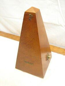 Vintage Seth Thomas Maelzel Metronome Wood Case Piano Clock Timer Pendulum 5310