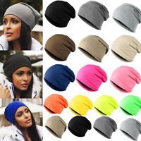Outdoor Candy Colour Unisex Beanie Hat For Ladies Slouch Winter Cotton Oversize