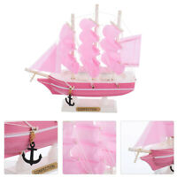 1Pc Practical Wooden Sailboat Vessel Model Sailing Ship Boat