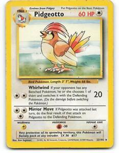 22/102 | Pidgeotto | WOTC Base Set | Pokemon Card | Played