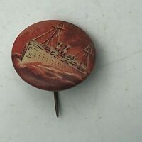 "Vintage Ship Nautical David C Cook Publishing 3/4"" Button Pin Pinback    R8"
