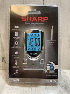 Sharp Digital Travel Alarm Clock Model SPC446D New Sealed