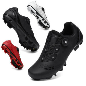 Men Mountain Bike Cycling Shoes with Compatible Cleat Peloton SPD Delta Sneakes