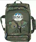 Annheuser-Busch Beer Mountains Camo Zip-Top Duffle Bag Handles Backpack 11x17x5