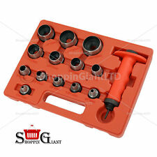 14Pc Hollow Punch Set For Cutting Rubber Plastic Leather Quality Tool Kit CT1540