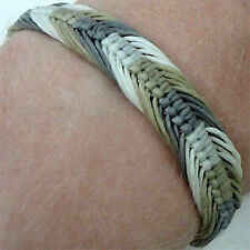Grey Olive Cream Bracelet Wristband Bangle Mens Ladies Boy Girl Surfer Jewellery
