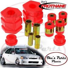 Prothane 8-218 Front Upper&Lower Control Arm Bushing Kit 96-00 Civic & 97-01 CRV
