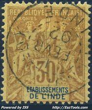 INDE TYPE GROUPE N° 9 AVEC OBLITERATION DU 01/02/1892