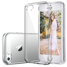 iPhone 5 5S SE Handyhülle Case Cover Silikon Transparent Klar Slim Schutz