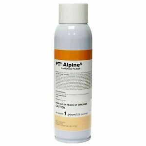 PT Alpine Pressurized Fly Bait Indoor & Outdoor Use 16oz Spray Can