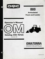 Mustang Omc 880 Articulated Front End Loader Operators Manual