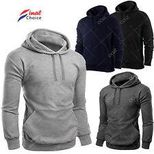 Mens Plain Hooded Hoodie Hoody Casual Gym Workwear Top Jumper Sweatshirt �€�