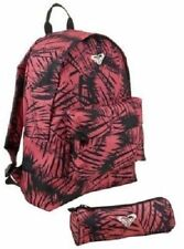 Roxy Backpack and Pencil Case Set - Palm Slate Rose