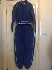 NFR FLAME RETARDANT Blue/White Racesuit Go Karting/Ministox/Ministock Size 36
