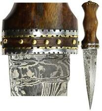 Rosewood Damascus Athame Dagger Ritual Wicca Pagan Knife Celtic Druid Sword