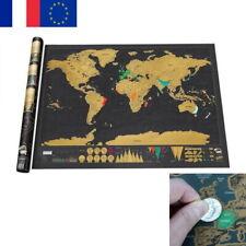 Carte du Monde à Gratter de Luxe 82 x 59 cm - Scratch Map  Voyage Poster Mural