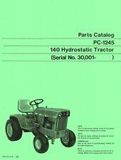 John Deere Model 140 Hydrostatic Tractor after Sn 30001 Parts Manual Ca 00004000 talog Jd