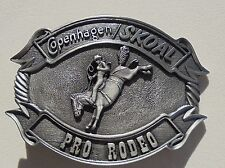 "COPENHAGEN/SKOAL PRO-RODEO BELT BUCKLE PEWTER COLOR ""NEW/UNUSED"""