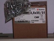 Würthschrauben 3,5 x 25  Würth ASSY Schrauben  150 Stück NEU