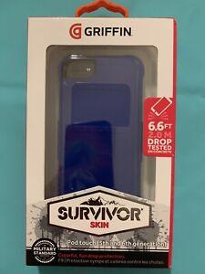 iPod Touch Case(5th, 6th, & 7th Generation) - Griffin Survivor Skin -Bright Blue