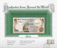 World Banknotes Malta 1 Pound Lira  1979 P-34b UNC Prefix A/16