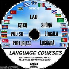 Écouter + apprendre 7 cours de langue portugais polonais tchèque Lao Shona + nouveau pcdvd4