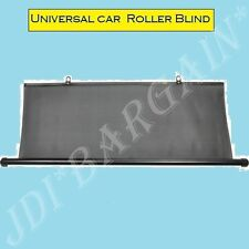 Rear Window Blind Tint Car Roller Curtain Sun Shade Universal(T)Type Black 100cm