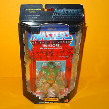 2000 MATTEL Amos del universo He-man Tri-klops figura de la serie conmemorativa Moc cardada Ltd Ed