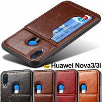 Phone Case Leather Hard Card Cover Huawei Nova 3 3i 5 pro 4e 3e P30 P20 Lite Pro