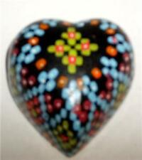 MOROCCAN Multi Colored Heart Shaped Trinket Jewelry Box