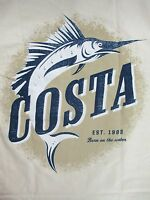 New Authentic Costa Del Mar, Oasis, Natural, S/S T-Shirt Size Large
