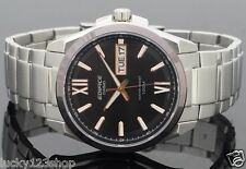 EFB-100D-5A Black Casio Edifice Men's Watch Sapphire Glass Analog Quatrz Steel