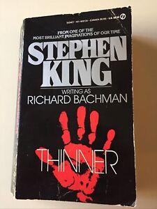 "Stephen King ""Thinner""  writing as Richard Bachman 1985 Signet Paperback"