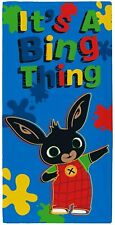 Official Bing Bunny  Its a Bing Thing Blue Character 100% Cotton Beach Towel