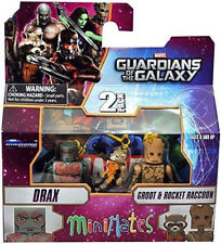 Marvel Minimates Guardians Of The Galaxy Drax with Groot and Rocket Raccoon