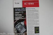 Icom-e90 (autentica foglio solo).......... radio_trader_ireland.