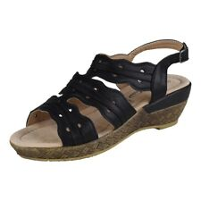 Lisanne Comfort Ladies Ankle-Strap Sandal Clog Black
