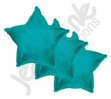 "3 pc - 18"" Solid Turquoise Star Balloon Wedding Baby Bridal Shower Birthday Luau"